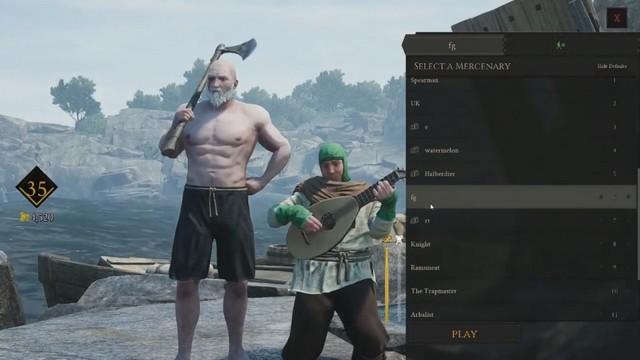 В Mordhau можно попасть на экран выбора персонажа других игроков